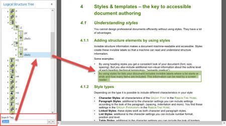 Screenshot: QuickFix: Search in Logical Structure