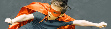 Child as Superman for accessibility